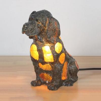 Single Light Cat/Doggy Table Light Tiffany Stylish Glass Night Light for Study Room