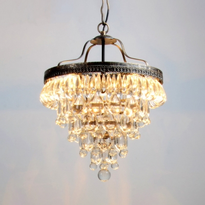 Clear Conical Pendant Light Modern Style Striking Clear Chandelier for Office Living Room