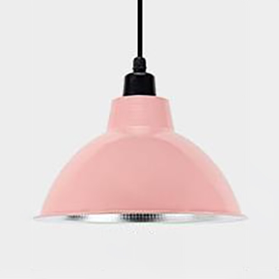 1 Light Domed Hanging Light with Adjustable Cord Simple Style Metal Pendant Light for Office