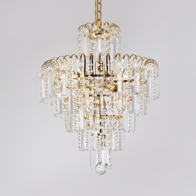 Metal Fireworks Pendant Light Luxurious Style Chandelier in Gold with Glamorous Crystal for Hotel