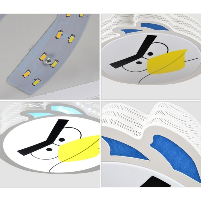 Animal Bird Ceiling Mount Light Metal Stepless Dimming/Third Gear/White Lighting Ceiling Light for Bedroom