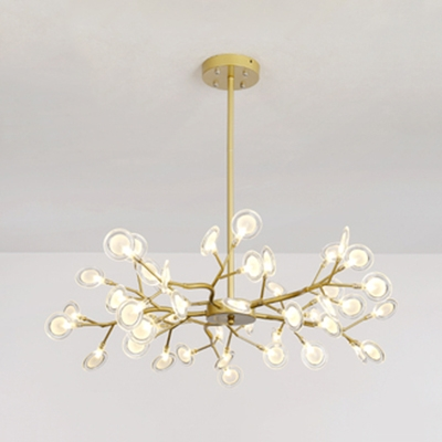 Metal Twig Ceiling Pendant Living Room 30/45/54 Heads Creative Modern Chandelier in Gold