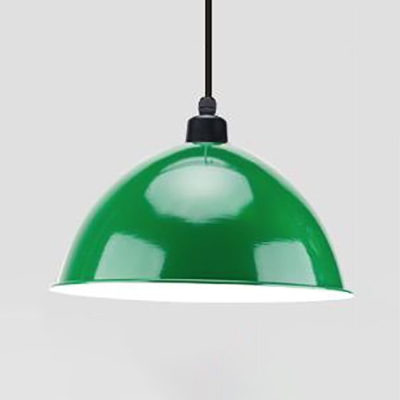Vintage Multi-Color Choice Pendant Lamp Domed Shade 1 Light Aluminum Ceiling Pendant for Factory