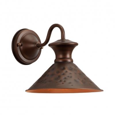 Vintage Stylish Bronze Wall Light Cone Shade 1 Light Metal Pendant Light for Foyer Study Room