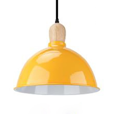 Single Light Dome Suspension Light Industrial Aluminum Hanging Light for Dining Table