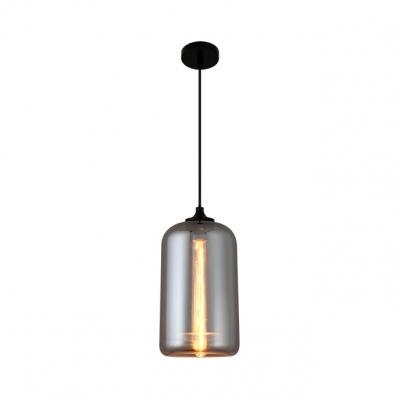 Smoke Mirror Glass Mini Hanging Light Contemporary 1 Bulb Suspension Lamp for Bar Cafe Restaurant