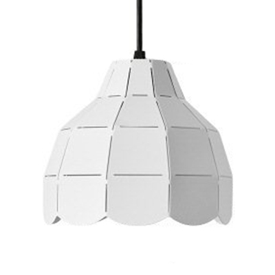 Black/Gray/White Dome Shade Hanging Light Nordic Metal Single Light Pendant Lamp over Dining Table