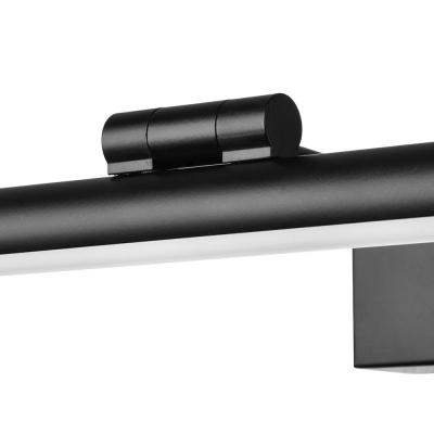 Metal Tube LED Vanity Light 18/23/30 Inch Antifogging Sconce Light in Black for Makeup Table