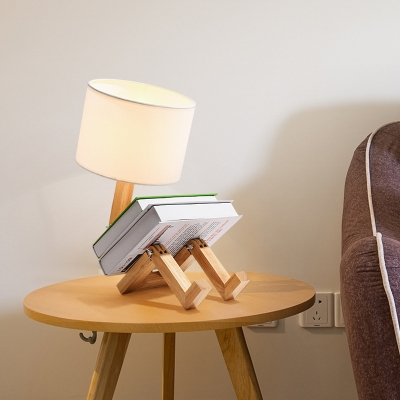 Modern Robot Table Lamp Distinctive Unique Adjustable DIY Book Night Light Bedside Lamp Home Decor
