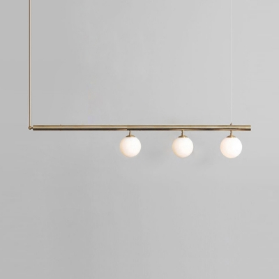 Opal Modo Island Light 1/2/3/4 Lights Modern Stylish Island Lamp in Gold Finish for Dining Table