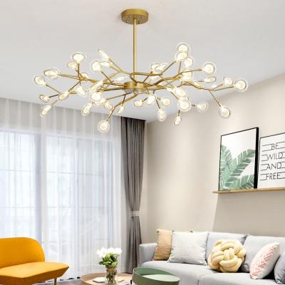 Metal Twig Ceiling Pendant Living Room 30/45/54 Heads Creative Modern