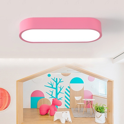 Acrylic Bar LED Flush Light Fixture Kids Youth Bedroom Ceiling Lamp in White/Third Gear