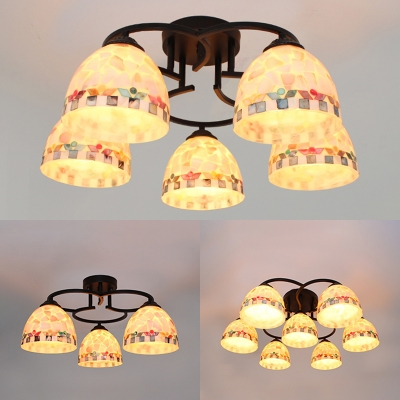 Bowl Shade Living Room Ceiling Light