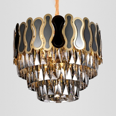 Dinging Table Bedroom Chandelier Stainless Steel & Clear Crystal Postmodern Hanging Light