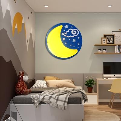 Nursing Room Starry Wall Sconce Metal Cartoon Style Multi-Color LED Sconce Light