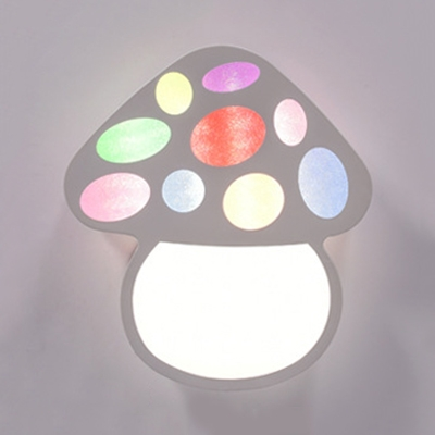 Multi Color Mushroom Ceiling Mount Light Kids Iron Third Gear