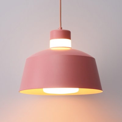 Macaron Tapered Shade Hanging Lamp Metal 1 Light Mini Pendant Lighting in Multi Colors