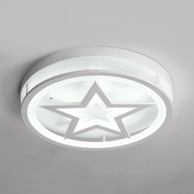 Ring & Star LED Flush Mount Light Modern Style Acrylic Ceiling Light in Warm/White for Dining Room