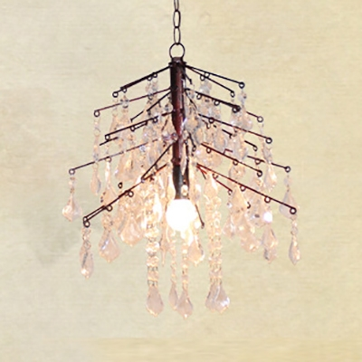 Twig Dining Room Pendant Light Metal 1 Bulb Country Style Rust