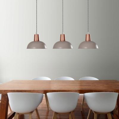 Restaurant Barn Shade Hanging Light Metal 1 Bulb Macaron Loft Blue/Gray/Green/Pink Pendant Light