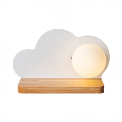 Bedside Cloud Wall Light Frosted Glass 1 Head Macaron Loft Blue/Green/Pink/White LED Sconce Light