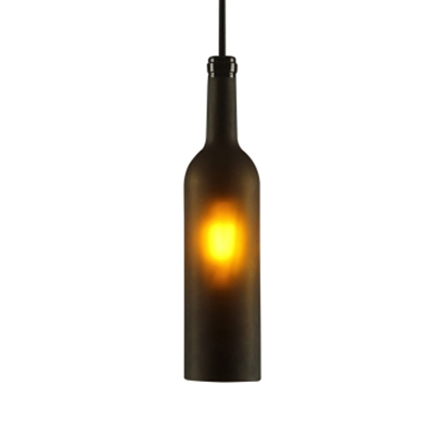 Creative Industrial Hanging Light Wine Bottle Shade 1 Bulb Pendant Light for Bar Restaurant