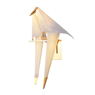 Double Paper Cranes Wall Sconce