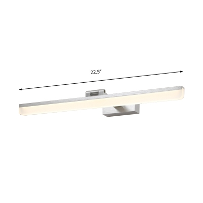 Adjustable Linear Vanity Mirror Light Minimalist Acrylic Led Wall Light for Bathroom