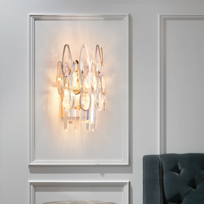 Creative Drop Crystal Sconce Wall Lights Contemporary Metal Wall