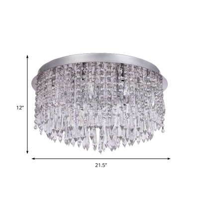 Clear Crystal Glass Ceiling Fixture Contemporary Unique Round Ceiling Light Fixtures for Bedroom
