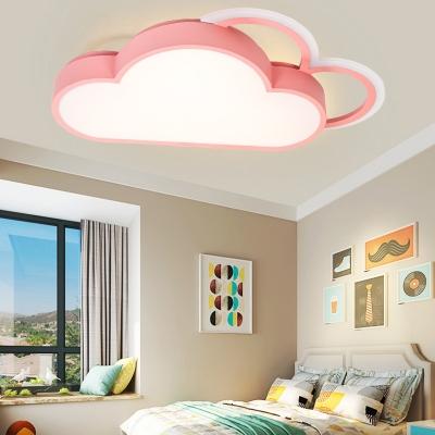Kids Room Cloud Flush Mount Light Cartoon Nordic Acrylic LED Ceiling Flush Light
