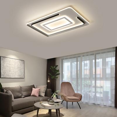 Minimalist Led Ceiling Flush Light Metal Living Room Flush Mount Ceiling Light
