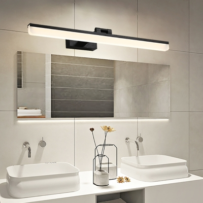 Adjustable Linear Vanity Mirror Light Minimalist Acrylic Led Wall Light For Bathroom Beautifulhalo Com