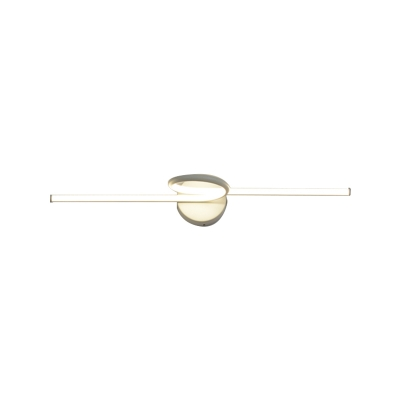 Black/White Twist Wall Sconce Light Modern Iron and Acrylic Waterproof Wall Sconces for Bathroom