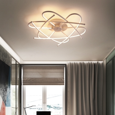 Contemporary Twist Flush Light Integrated Led Acrylic Close to Ceiling Light