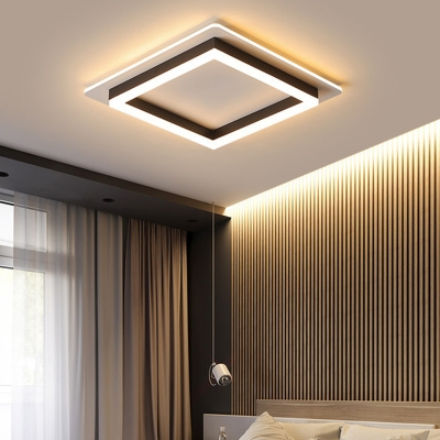 Integrated Led Geometric Flush Mount Light Modern Simple Metal Living Room Ceiling Light Beautifulhalo Com