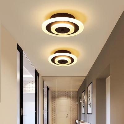 Acrylic Round Square Ceiling Lamp Minimalist Led Flush Mount Ceiling Light For Hallway Beautifulhalo Com