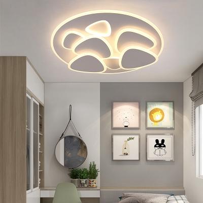 Acrylic Ultrathin Triangle Ceiling Light Fixture Living Room LED Nordic Flush Mount Light