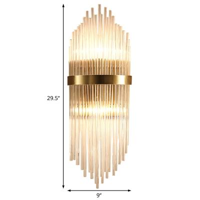 Crystal Fringe Sconce Light Modern Metal Single Light Wall Sconce Light Fixture for Bedroom