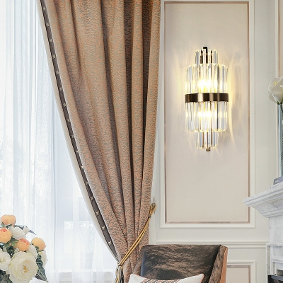 Crystal Wall Sconce Lighting Contemporary 2 Light Wall Sconce Light Fixtures for Living Room