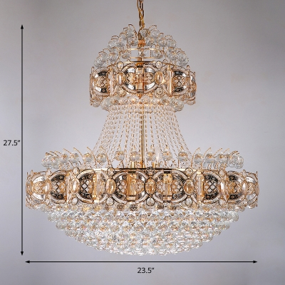 Sparkling Large Pendant Chandelier for Kitchen Dining, Contemporary Crystal Ball Creative Hanging Lights