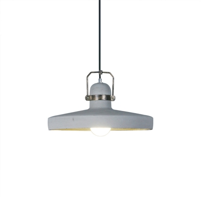 White and Antique Brass Hanging Lights Industrial Metal 1-Light Barn Ceiling Pendant