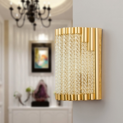 Contemporary Wall Lighting Aluminum and Glass Creative Sconce Light Fixture in Gold for Living Room HL561311 фото