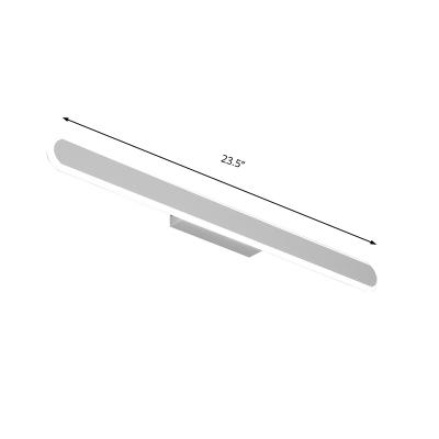 White Linear Vanity Lighting Modern Metal and Acrylic Waterproof Led Bathroom Wall Light