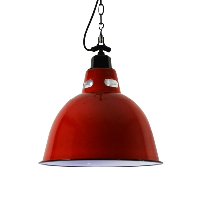 Antiqued Chain Hung Pendant Ceramic Single Light Hanging Indoor Lights with Dome Shade