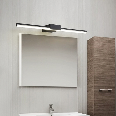 Led Horizontal Vanity Lighting Waterproof Minimalism Metal Bathroom Lighting