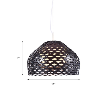 Acrylic Orb Pendant Lighting with Metal Mesh Shade Modern 1 Light Contemporary Ceiling Light