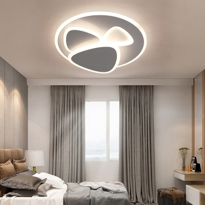 Acrylic Ultrathin Triangle Ceiling Light Fixture Living Room LED Nordic Flush Mount Light