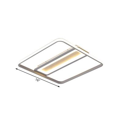 Modern Bedroom Flush Mount Light with Acrylic Shade Metal Led Flushmount Lighting