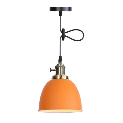 Modern Industrial Pendant Ceiling Lights Metal Single-Bulb Hanging Pendant Light for Kitchen Dining